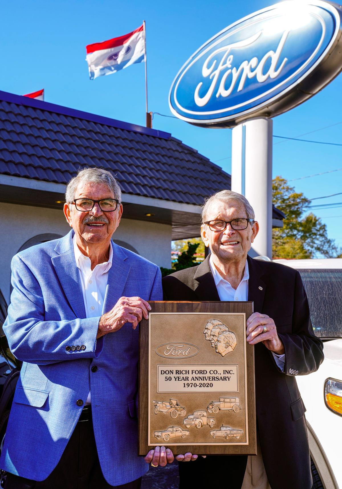 Don Rich Ford owners celebrating 50 years in business