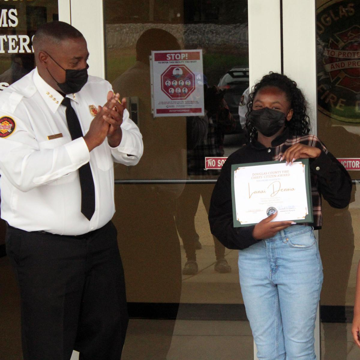 Middle schooler credited with saving grandmother, brother from fire