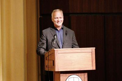 Former Bulldog coach Mark Richt leaves them standing at city schools convocation