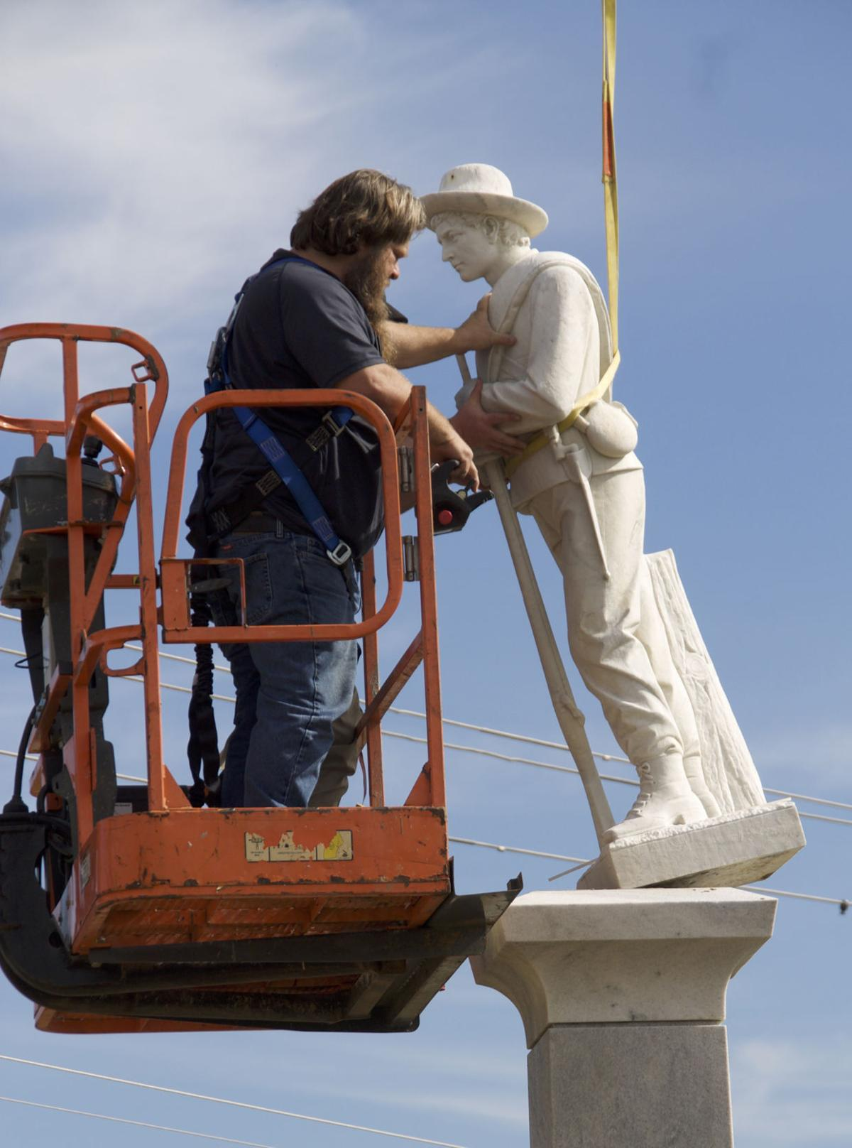 Statue removed Front