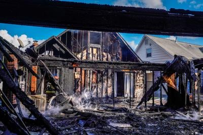 Move-in day fire engulfs home