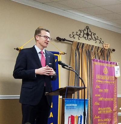 Rotary members hear from UWG president