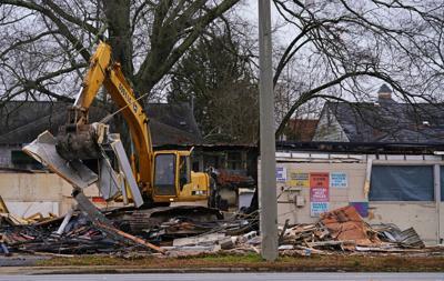 Three buildings demolished on the corner of Alabama Street and Highway 27