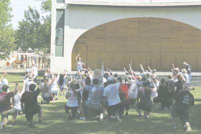 Marissa Turrubiates, VC Native, Leading Crowd In A Kneel Prayer