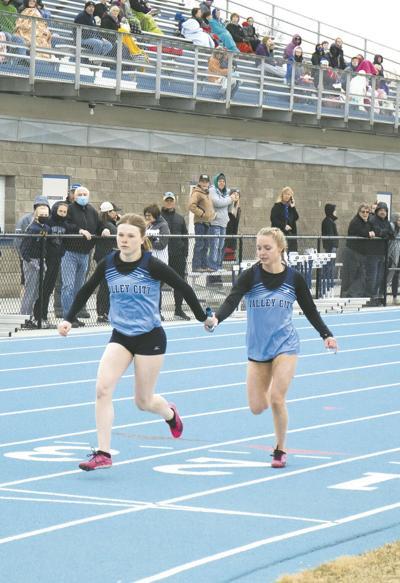 Jocey Kriewald and Karina Olson Running Team Race