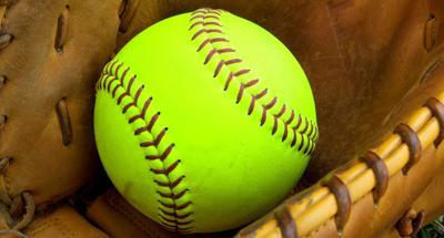 Softball in Glove Graphic