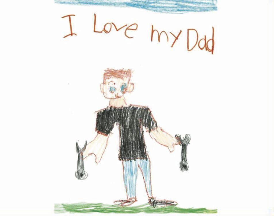 Draw Dad - Landon Carlblom age 5-9 winner