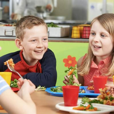 Free School Lunch Photo With Kids Eating