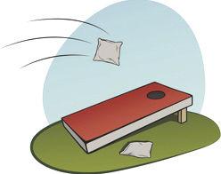 Cornhole Stock Cartoon Image