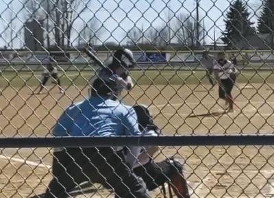 VCHS Hi-Liner Softball Action Shot