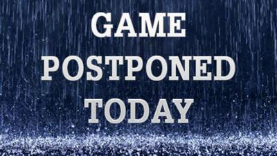 Game Postponed Today Due To Rain Graphic