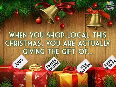 Shopping Local This Christmas Graphic