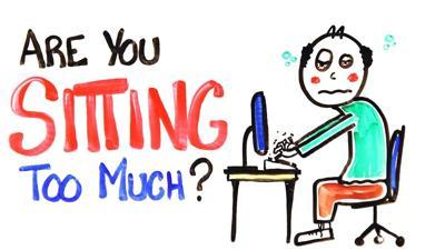 Sitting Too Much Cartoon