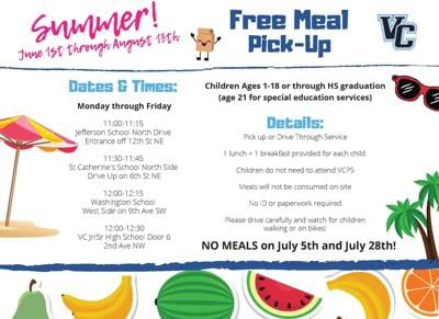 VCPS Free Summer Meals