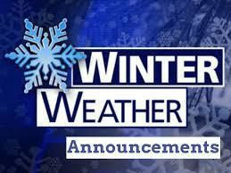 Winter Weather Announcements