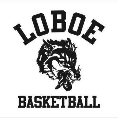 Loboes: Litchville-Marion-LaMoure Mascot Basketball Logo