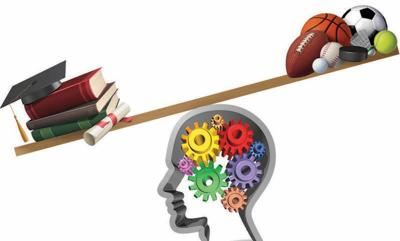 Balancing Athletics and Acadmics Graphics