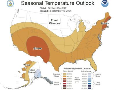 Oct-Nov-Dec Temperature Outlook 2021