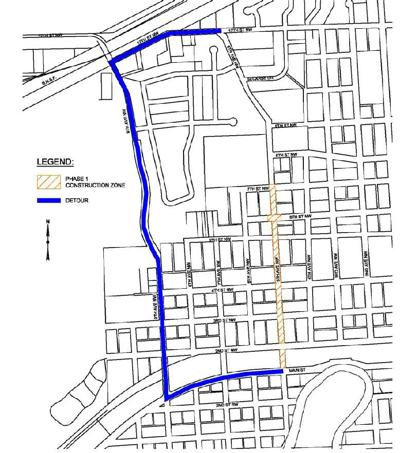 6th St Construction Map