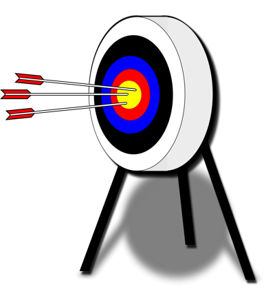 Archery Target and Arrows Clip Art
