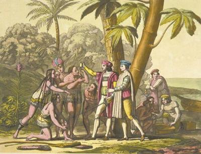 Columbus Landing in South America