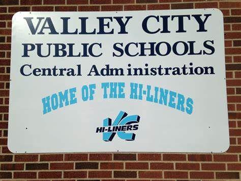 Valley City Public School Building Sign
