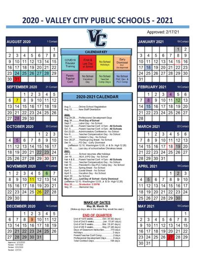 2020-21 Calendar Revision Graphic (2/17)