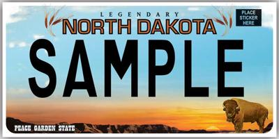 ND Sample License Plate