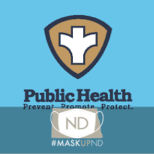 City County Health/Mask Up ND Graphic Logo