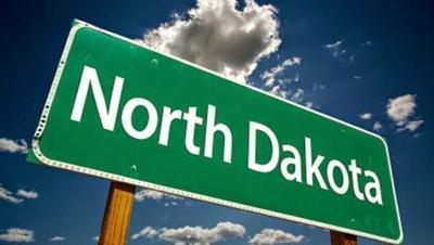 North Dakota Sign tilted