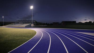 Track & Field Stock Photo - Blue Track