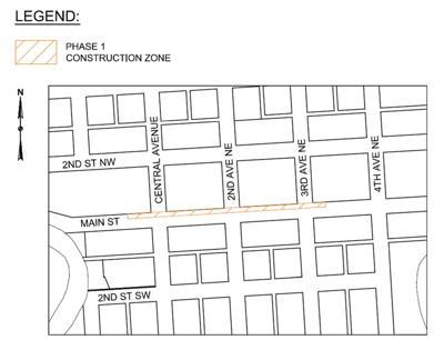Main St Construction Map