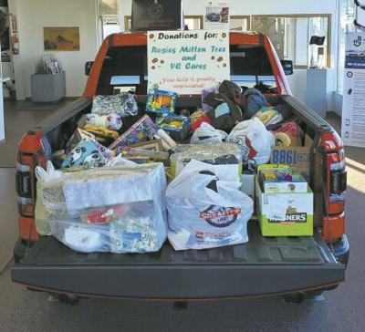 Miller Motors Donation to VC Cares/Mitten Tree