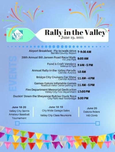 Rally in the Valley Schedule