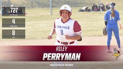Riley Perryman VCSU NSAA Softball Player of Week