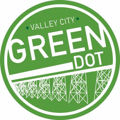 Valley City Green Dot Logo