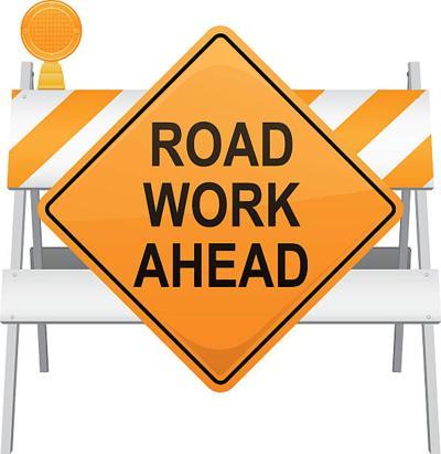 Road Work Ahead Clipart