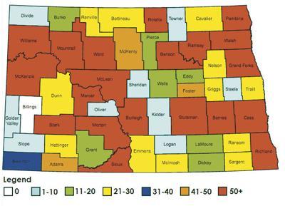 North Dakota Flu Map