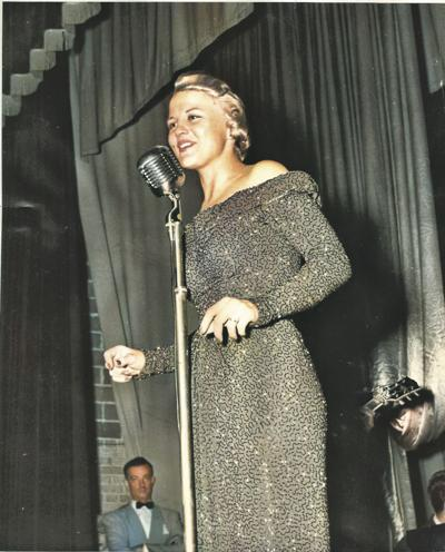 Peggy Lee Evening Gown/Performing at the NDWS
