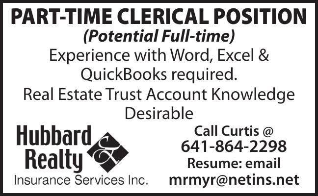 PART-TIME CLERICAL POSITION