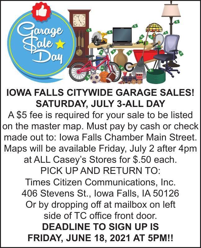 IOWA FALLS CITYWIDE GARAGE SALES!