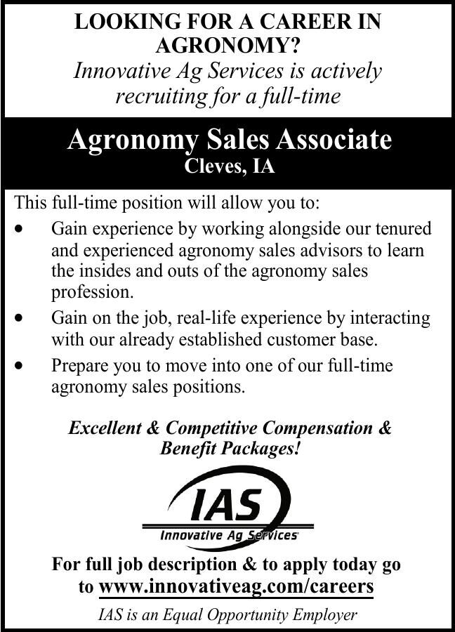 LOOKING FOR A CAREER IN Agromomy