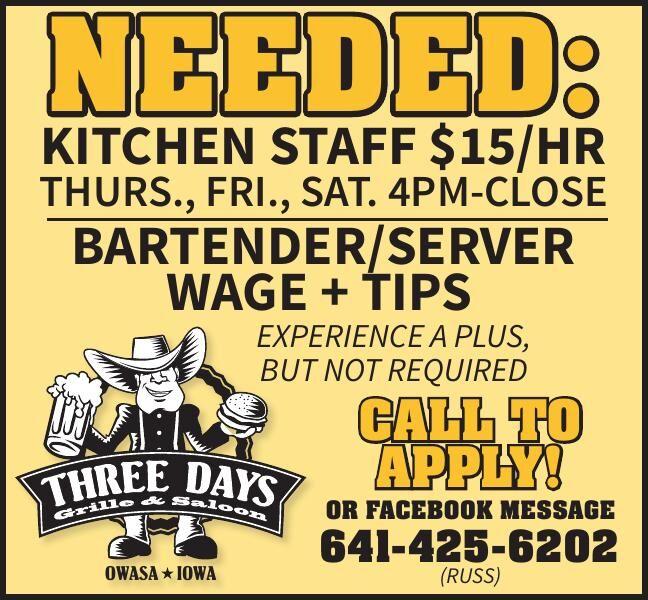 Kitchen Staff/Server/Bartender