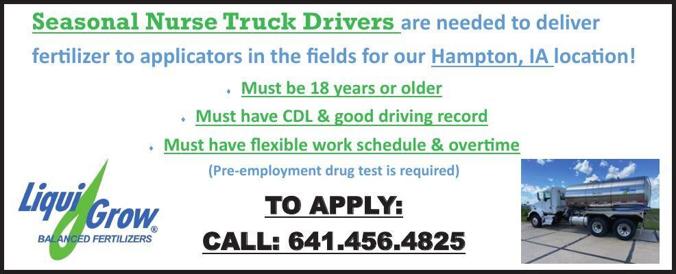 Seasonal Nurse Truck Driver