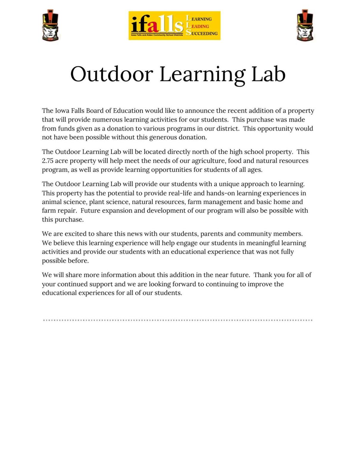 Learning Lab Press Release