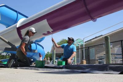 Meyer Aquatic Center Slide Painting