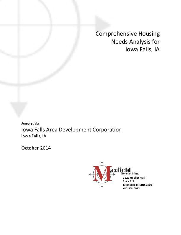 Iowa Falls Housing Study - 2014