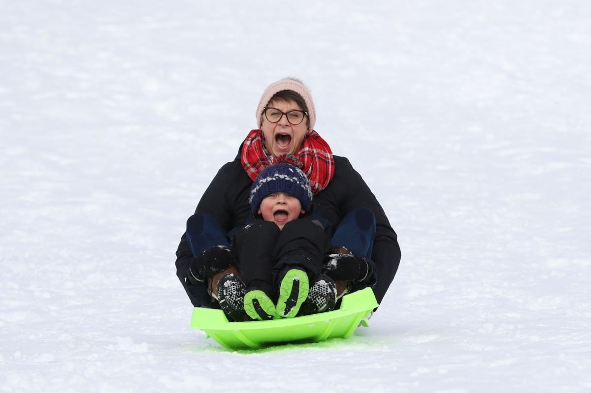 Winter Rec Fest Sledding Contest