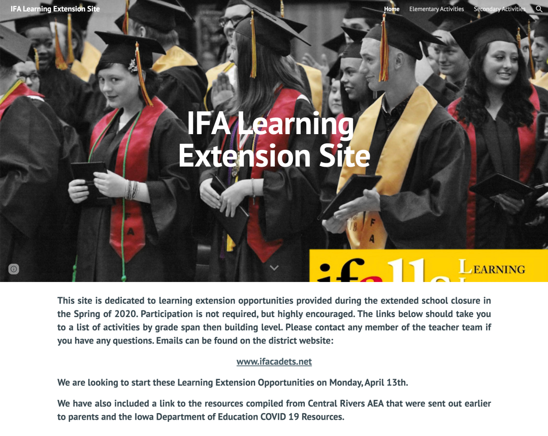 IFA Learning Extension Website