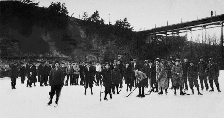 Ice Skating on the Iowa River, 1919